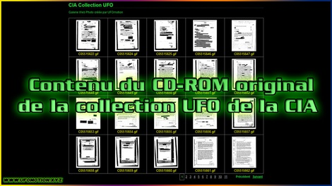 Contenu du CD-ROM original de la collection UFO de la CIA
